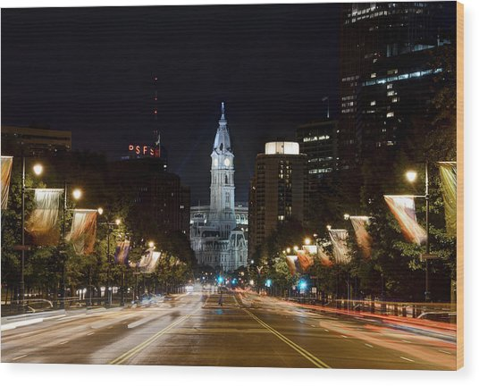 City Hall From The Parkway Wood Print