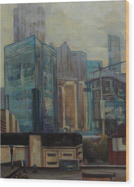 City In The Cityscape Wood Print by Maris Salmins