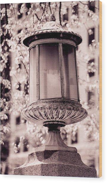 City Lamp Wood Print