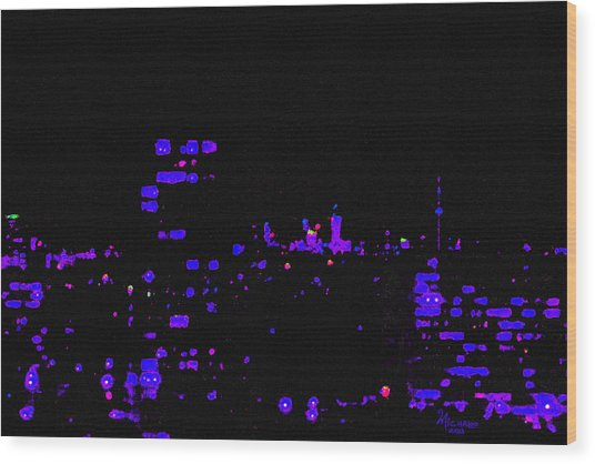 Toronto City Lights Wood Print