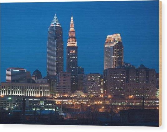 City Lights Wood Print