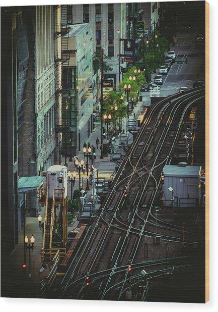 City Lines Wood Print