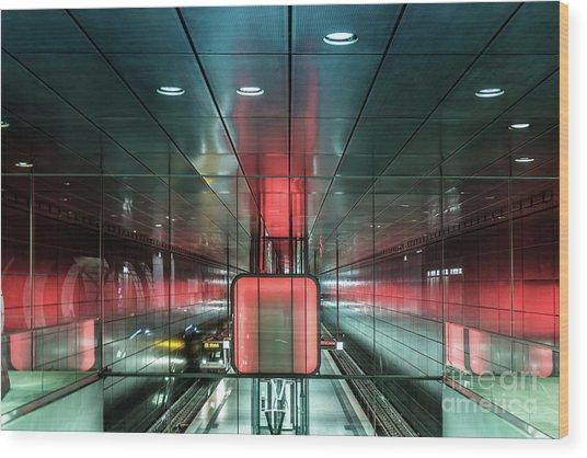 City Metro Station Hamburg Wood Print