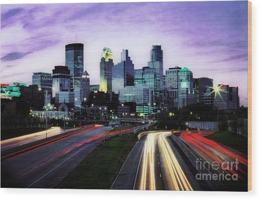 Wood Print featuring the photograph City Moves by Scott Kemper