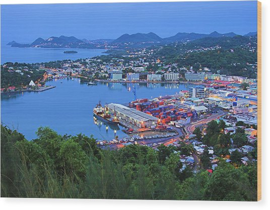 City Of Castries-st Lucia Wood Print