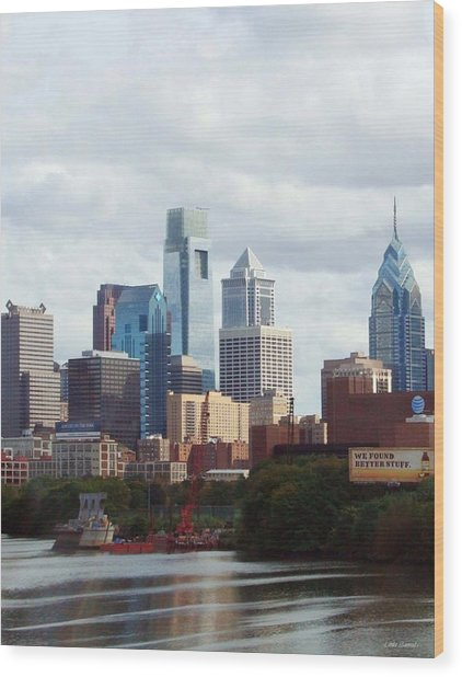 City Of Philadelphia Wood Print