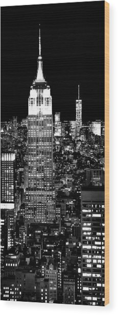 City Of The Night Wood Print