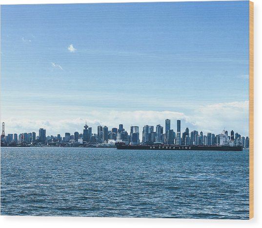 City Of Vancouver From The North Shore Wood Print