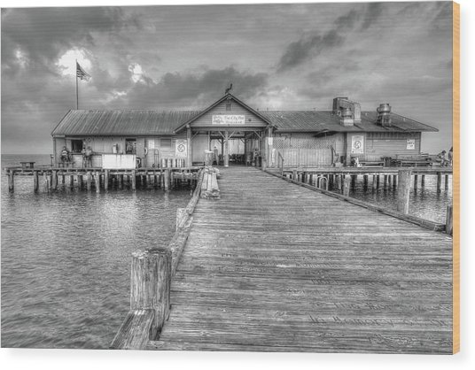 City Pier Anna Maria Island Wood Print