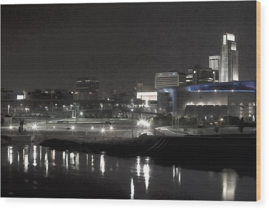 City Reflections Wood Print by Tim Perry