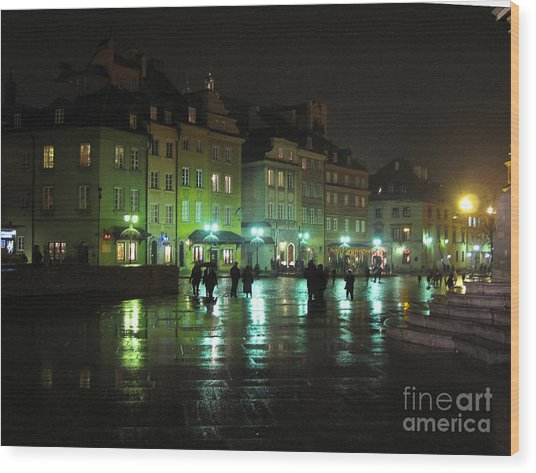 City Scape- Warsaw- Old Town Wood Print