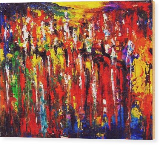 City. Series Colorscapes. Wood Print