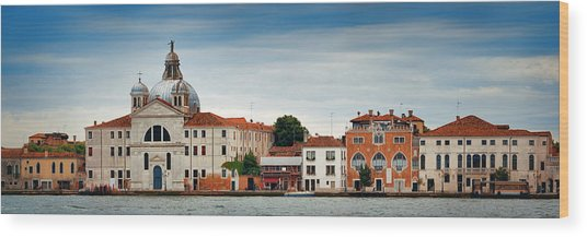 Wood Print featuring the photograph City Skyline Of Venice Panorama by Songquan Deng