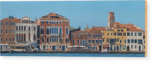 Wood Print featuring the photograph City Skyline Of Venice by Songquan Deng