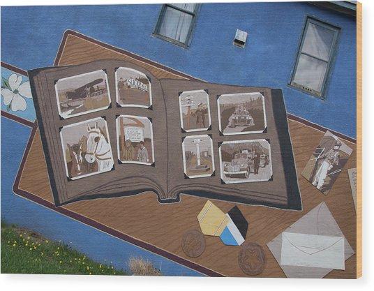 City Street Art Wood Print by Robert Braley