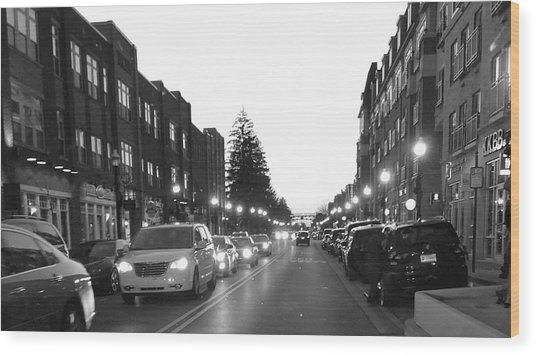 City Streets Wood Print