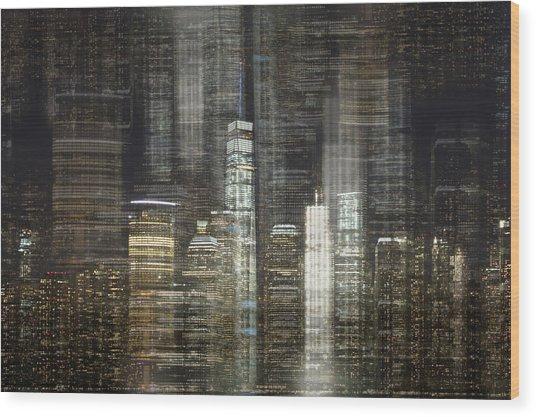 City Tetris Wood Print