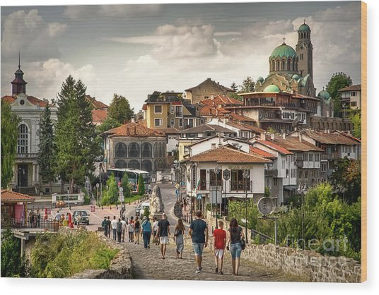City - Veliko Tarnovo Bulgaria Europe Wood Print