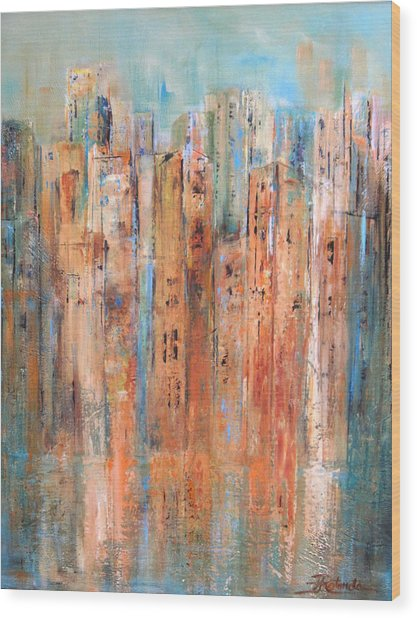 Cityscape #3 Wood Print