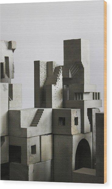 Cityscape 4 Wood Print by David Umemoto