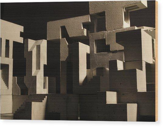 Cityscape 8 Wood Print by David Umemoto