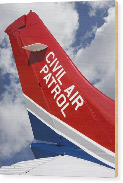 Civil Air Patrol Aircraft Wood Print