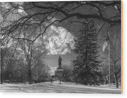 Civil War Sunset Wood Print