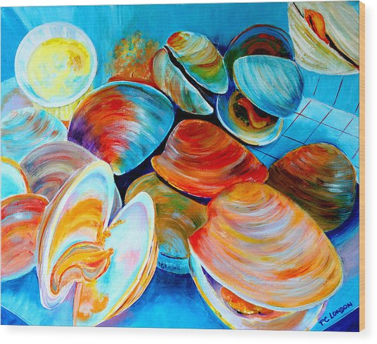 Clams At The Jersey Shore Wood Print
