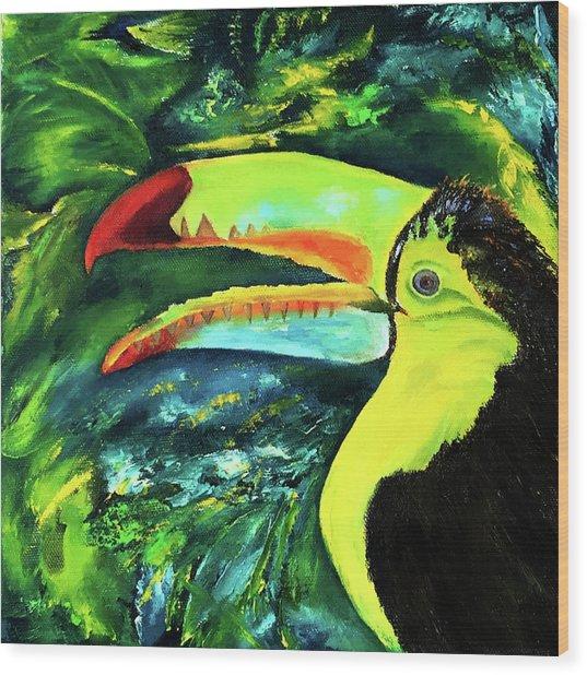 Clara's Toucan Wood Print