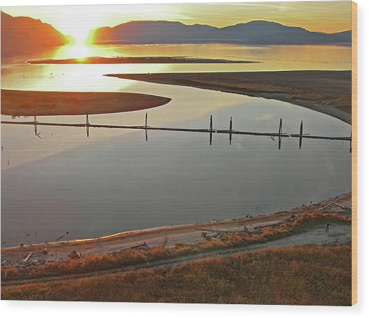 Clark Fork Delta Wood Print by Jerry Luther