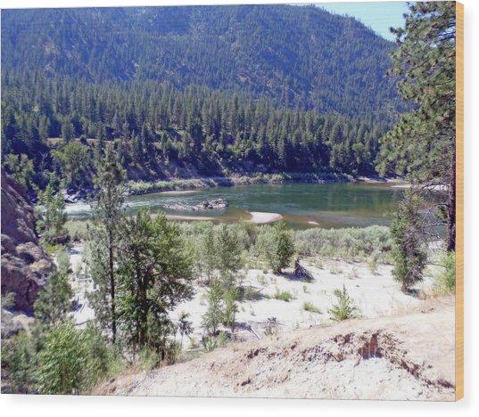 Clark Fork River Missoula Montana Wood Print
