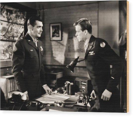 Clark Gable Appearing In Command Decision Wood Print