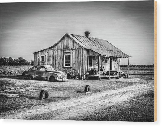 Clarksdale, Ms Wood Print by EG Kight