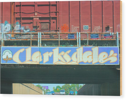 Clarksdale Overpass Wood Print