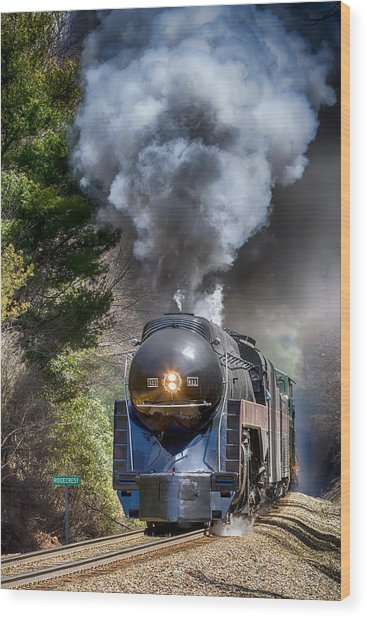 Class J 611 Steam Engine At Ridgecrest Wood Print