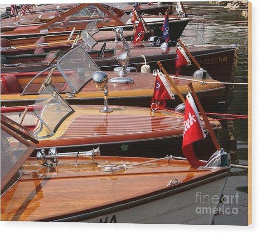 Classic Boats Wood Print