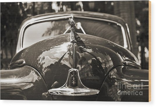 Classic Car Detail - Dodge 1948 Wood Print