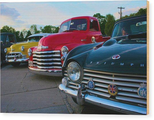 Classic Chrome Bumpers Wood Print