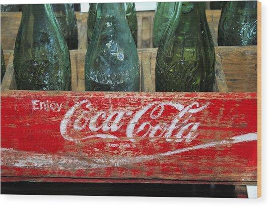 Classic Coke Wood Print