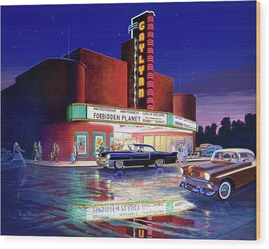 Classic Debut -  The Gaylynn Theatre Wood Print