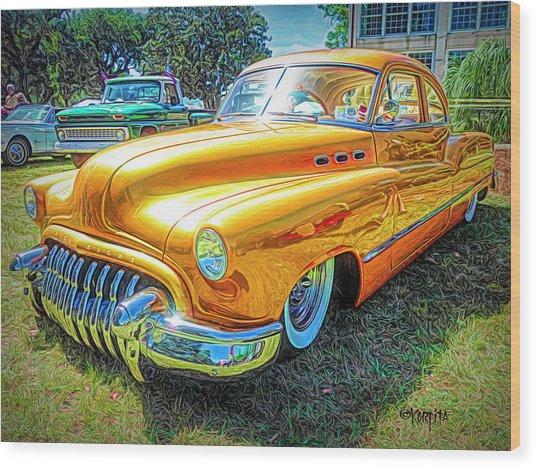 Classic Fifties Buick - Cruising The Coast Wood Print