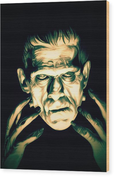 Classic Frankenstein Wood Print