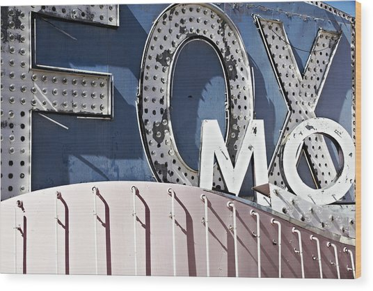 classic Las Vegas signs  the neon sign Wood Print