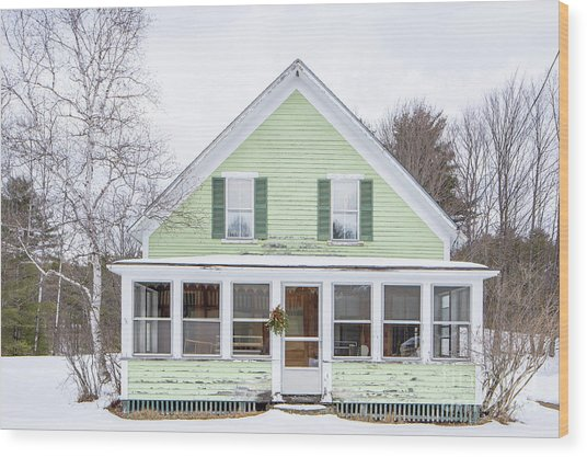 Wood Print featuring the photograph Classic New Englander Home by Edward Fielding