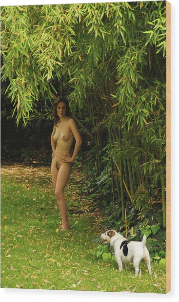 Classic Nude And Companion  Wood Print