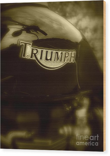 Classic Old Triumph Wood Print