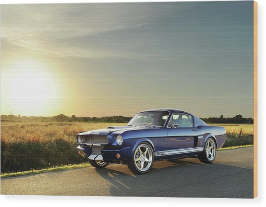 Classic Recreations Shelby Gt350cr Wood Print by Drew Phillips
