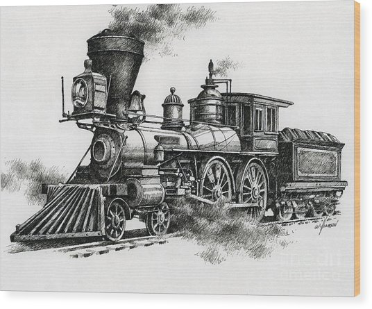 Classic Steam Wood Print