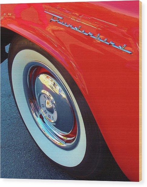 Classic T-bird Tire Wood Print