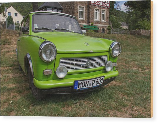 Classic Trabant Car Wood Print